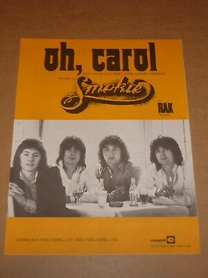 "Smokie ""Oh, Carol"" sheet music"