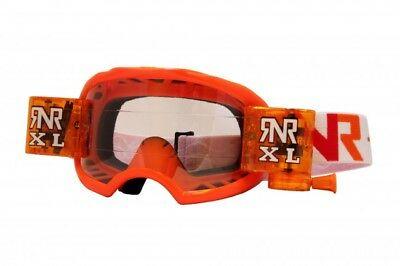 New Adult Rip N Roll COLOSSUS Goggles Roll Off System MX Enduro Orange