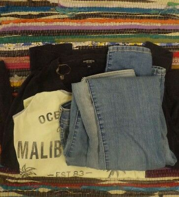 Women's size 8 Clothing Lot 3x Jeans, 2 tops