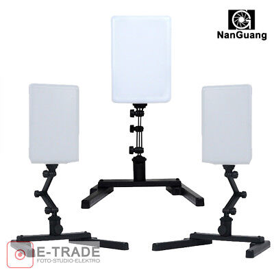 3x Studio-Licht 96pc LED CN-T96 18W Video Lampe Verstellbare Haltewinkel-Stand