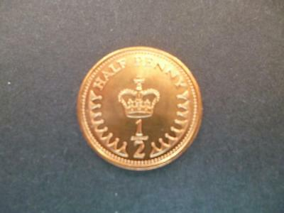 1982 Uncirculated Half Penny Piece.1982 1/2P Coin The Coin Shown Is The One Sent