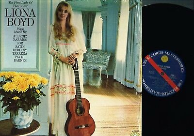 Liona Boyd THE FIRST LADY OF THE GUITAR Stereo LP US CBS Masterworks M35137 @exc