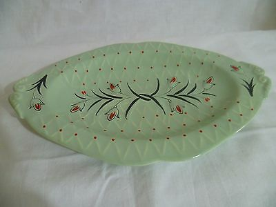 1950's Vintage Wade Dish Floral Hand Painted England Plate Mid Century Porcelain