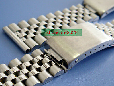 18mm Straight End Solid Stainless Steel Replacement Jubilee Bracelet BubbleBack