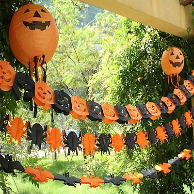 Halloween Spider/Pumpkin Scary Witch Garland Paper Decoration Haunted House Prop