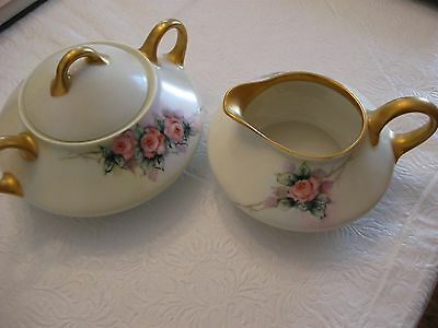 Bavaria Cream & Sugar Set ~ Roses