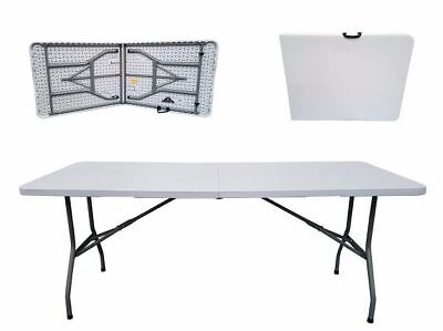 New Folding Table 4Ft Camping Heavy Duty Trestle Bbq Home Picnic Plastic Garden