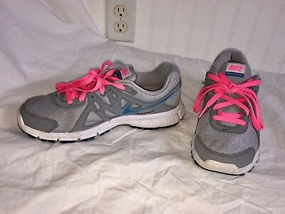 Womens Nike Refolution 2 Athletic Running Shoes Grey/pink Size 8.5