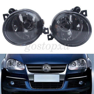 For VW 2X Front Bumper Fog Light Lamp 05-10 Golf JETTA BOAR MK5 06-09 GTI