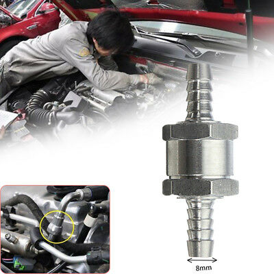 8mm Motorcycle Auto Fuel Non-Return One Way Check Valve Petrol Diesel Oil Alloy