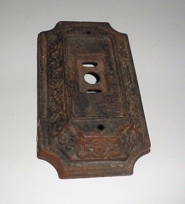 Antique Victorian Cast Iron Wall Sconce Light Fixture Plate Base