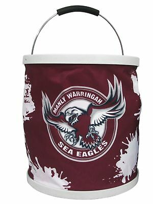 Manly Sea Eagles NRL 11 Litre Foldable Bucket With Carry Bag