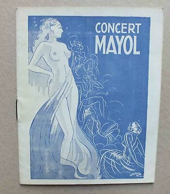 Ancien Programme - Concert Mayol A Paris - Nus ... 42 - 1942 *
