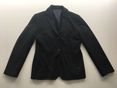 Cue Women's Charcoal Suit Jacket And Skirt Set Size 10