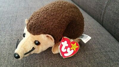 Ty Beanie Baby. Prickles the hedgehog. With errors. Mint Condition