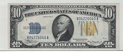 Fr.2309 1934A $10 North African Silver Certificate AU-UNC