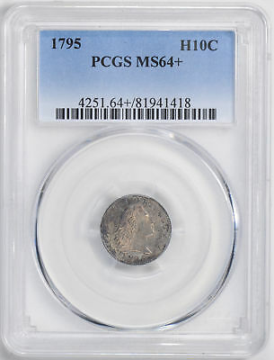 1795 Flowing Hair H10C Pcgs Ms 64+