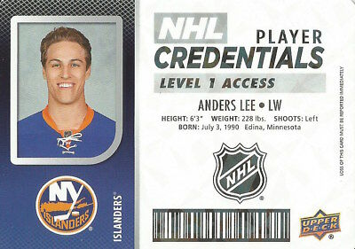 Anders Lee #NHL-AL - 2017-18 MVP - NHL Player Credentials Level 1 Access