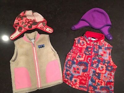 Lot Girls Patagonia Baby Girl Vests and Hats
