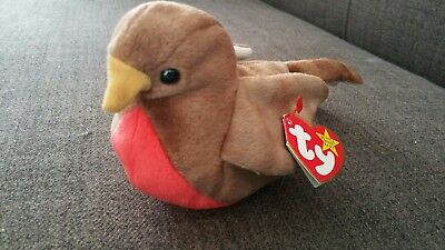 Ty Beanie Baby. Early the robbin. Mint Condition. With errors.