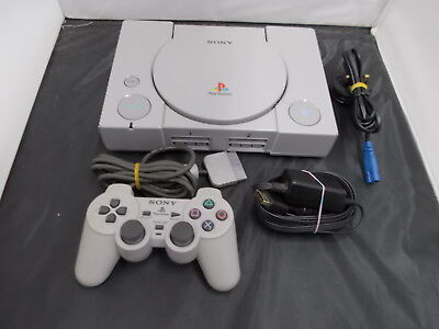 PS1 Sony Playstation 1 Pal Grey COMPUTER CONSOLE (44) SCPH-5552