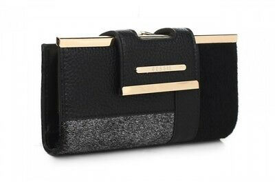 Ladies Purse Bessie London Clasp Clip Coin Section & Card Slots Wallet (BP1079)