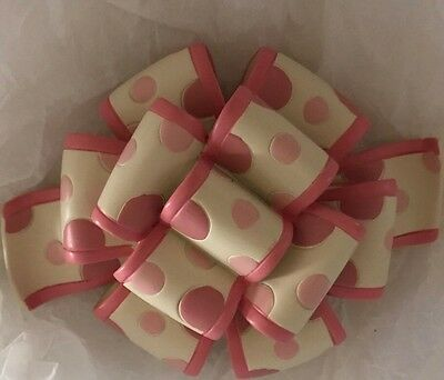 Longaberger Pink Birthday Bow Knob New In Box. Hard To Find