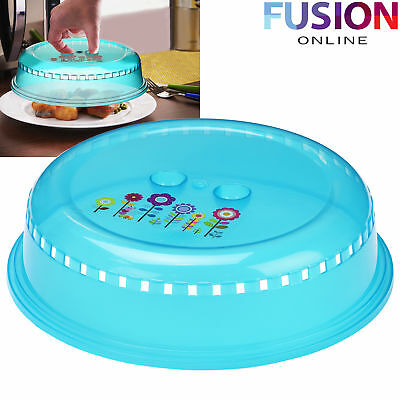 Microwave Plate Ventilated Lid Cover Food Dish Vent Splatter Kitchen Cooking
