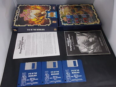 Amiga Game EYE OF THE BEHOLDER with Box Instructions