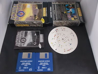 Amiga Game ANOTHER WORLD with Box Instructions