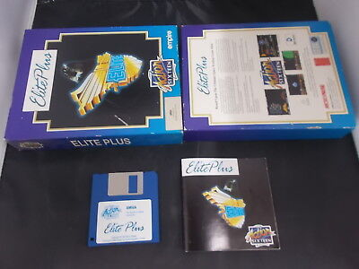 Amiga Game ELITE PLUS with Box Instructions