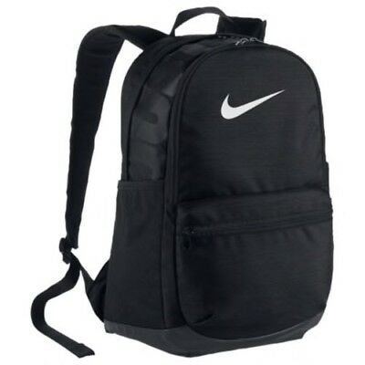 NIKE Brasilia Medium Size BA5329-010 BLACK WHITE Unisex Backpack Laptop Book Bag
