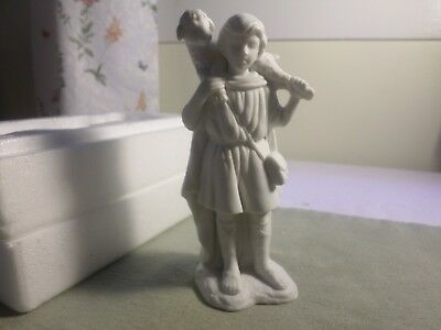 xmas 1993 avon nativity collectibles sherpard with lamb porcelain  figurine nib