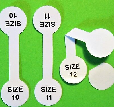 Lot 30pc (10each) sizes 10,11,12.Ring Barbell Stick Tags Jewelry Display Fast