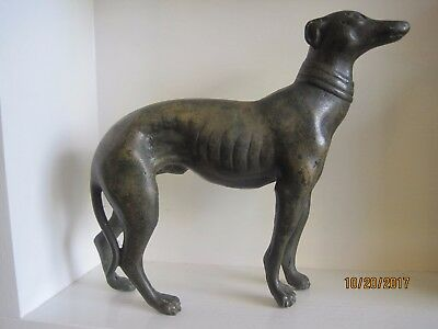 Solid Bronze Art Deco 1920's French Greyhound Statuette.