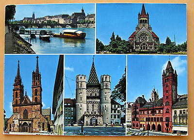 Vintage Post Card - Greetings From Basle  Basel - used