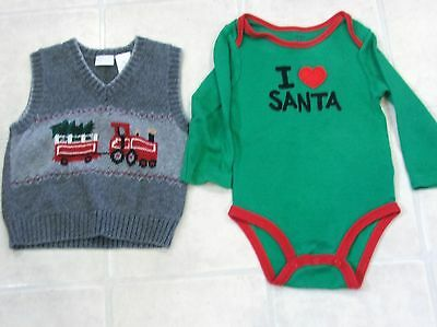 18 Months Boys Christmas Clothes Lot of 2