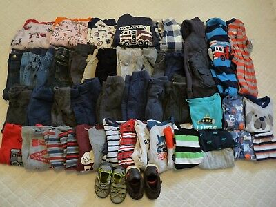 Huge 48 Piece Toddler Boy Fall/winter Clothing Lot Size 18-24 Months Nwot-Play
