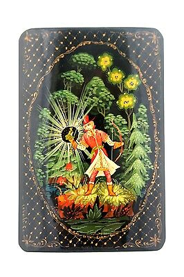 "Vintage Russian Laquer Painted Hand Painted ""The Frog Princess"", Kholui"