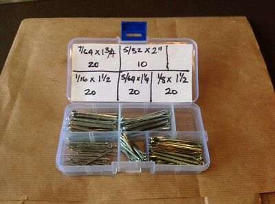 """Box of Split-Pins / Split Cotter Pins Sizes 1/16"""" to 5/32"""" - 90 pieces"""
