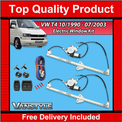 Vw T4 Transporter 1990-2003 Caravelle Kombi Electric Window Upgrade Kit Set