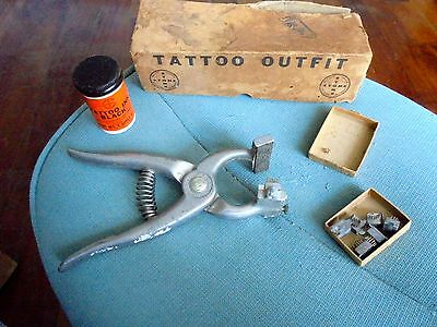 Vintage Stone Tattoo Pliers in Original Box looks awesome!