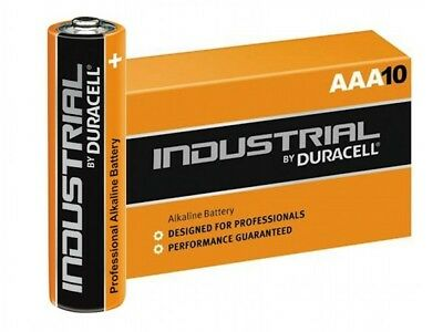 10 Batterie Duracell Industrial Procell Pile Alcaline Stilo AAA pile