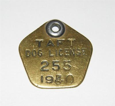 1940 Dog License Tag Taft California