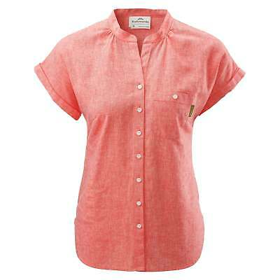 Kathmandu Expedite Womens Hemp Organic Cotton Blend Short Sleeve Shirt v2 Red