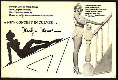 Marilyn Monroe Drawing Aid Drafting Template vintage collectable