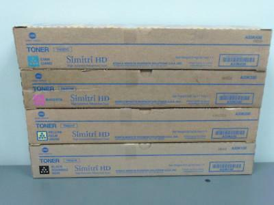 New Genuine Konica Minolta TN321C M Y K Simitri HD Toner Set