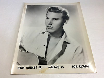 Vintage Hank Williams Jr. exclusively on MGM RECORDS Photograph 8x10