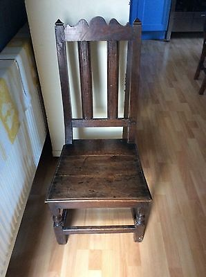 Late 17Th Century Oak Slat-Back Chair Circa 1680-90...