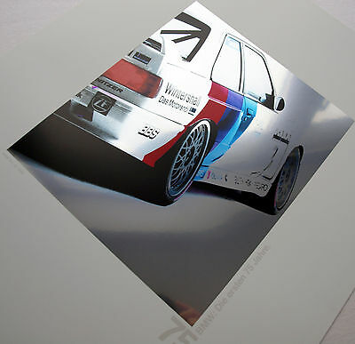 BMW E30 M3 DTM Johnny Cecotto M Power Motorsport Racing Art Classic Car Poster